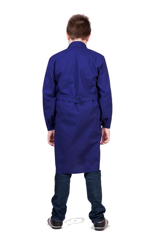 Халат для труда для мальчиков Трудовичок. Синий цвет.