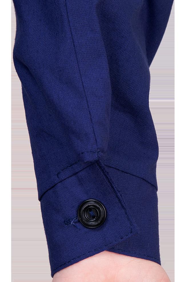 Халат для технологии для мальчиков Трудовичок. Синий цвет.