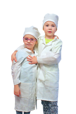 Белый халат для лаборанта игры в доктора и химика