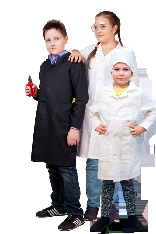 Школьные халаты для уроков Труда, ИЗО и Химии