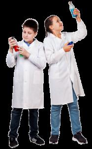 Белые халаты для химии для мальчиков и девочек
