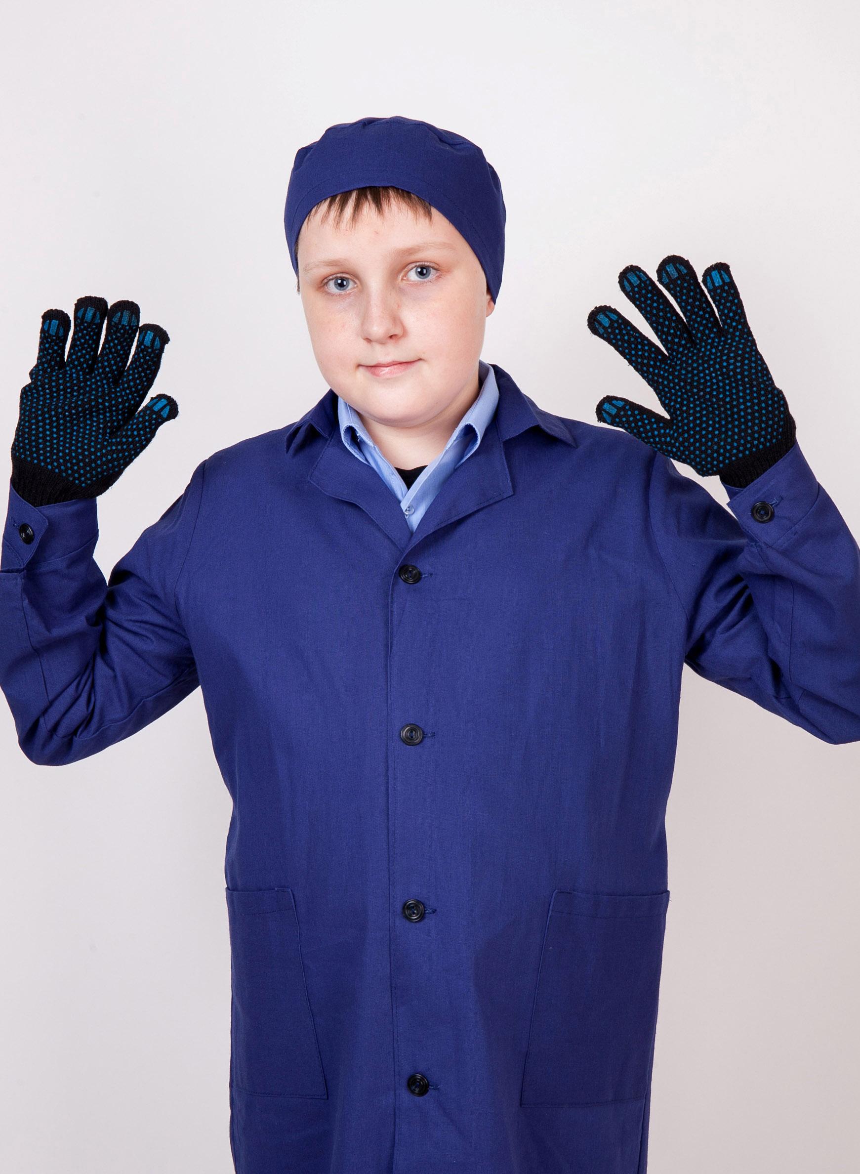 халат школьный с перычатками и шапочкой