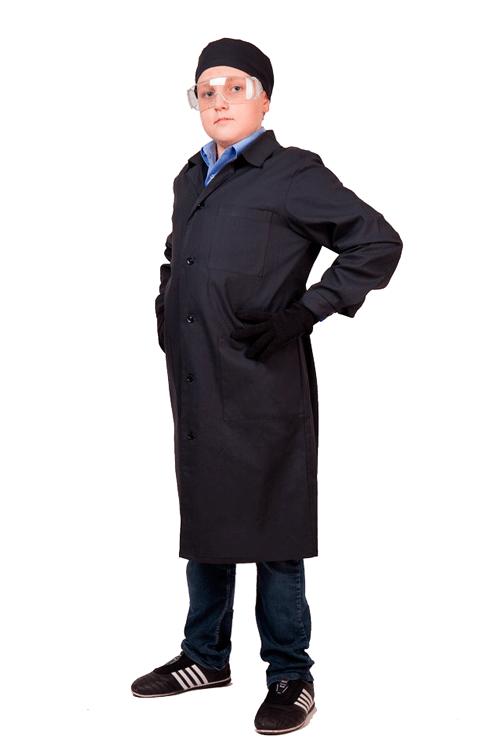 Комплект для труда с шапочкой черный