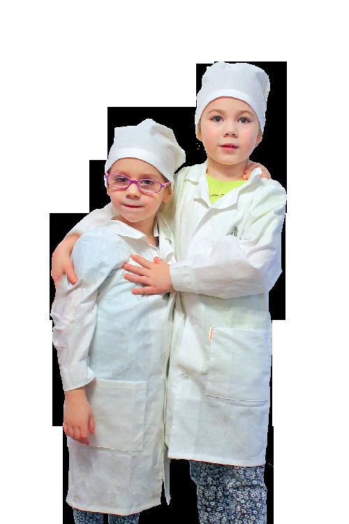 халаты для юных химиков и для опытов