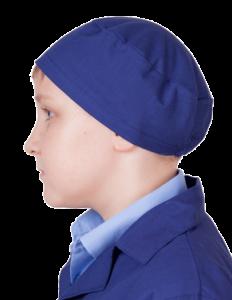 Берет школьный синий